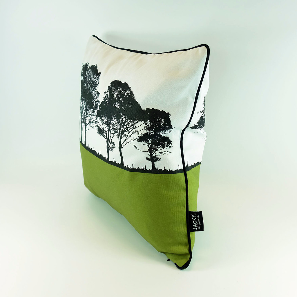 Tree design cotton cushion with feather inner by Jacky Al-Samarraie