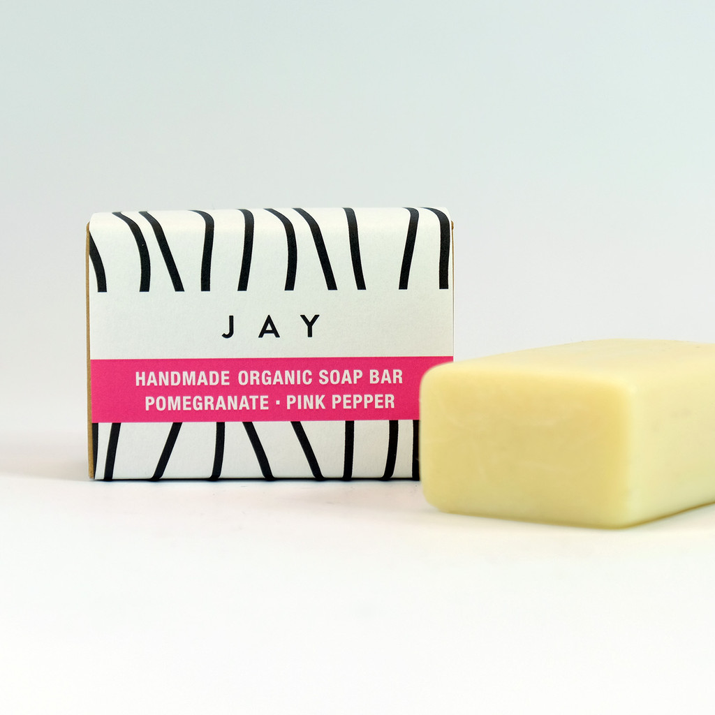 Organic Soap Bar - Pomegranate & Pink Pepper by Jacky Al-Samarraie