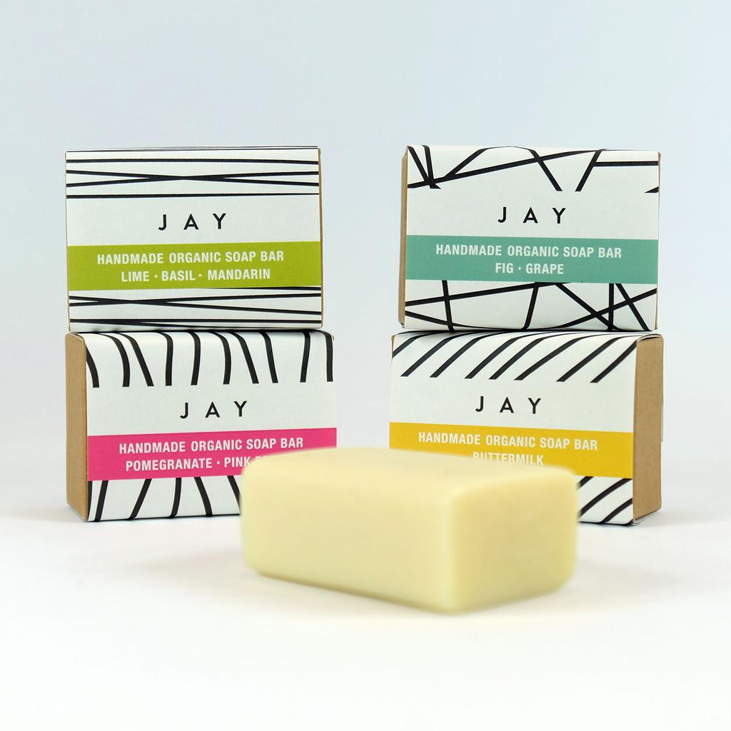 Four fragranced organic soap bars - The Art Rooms
