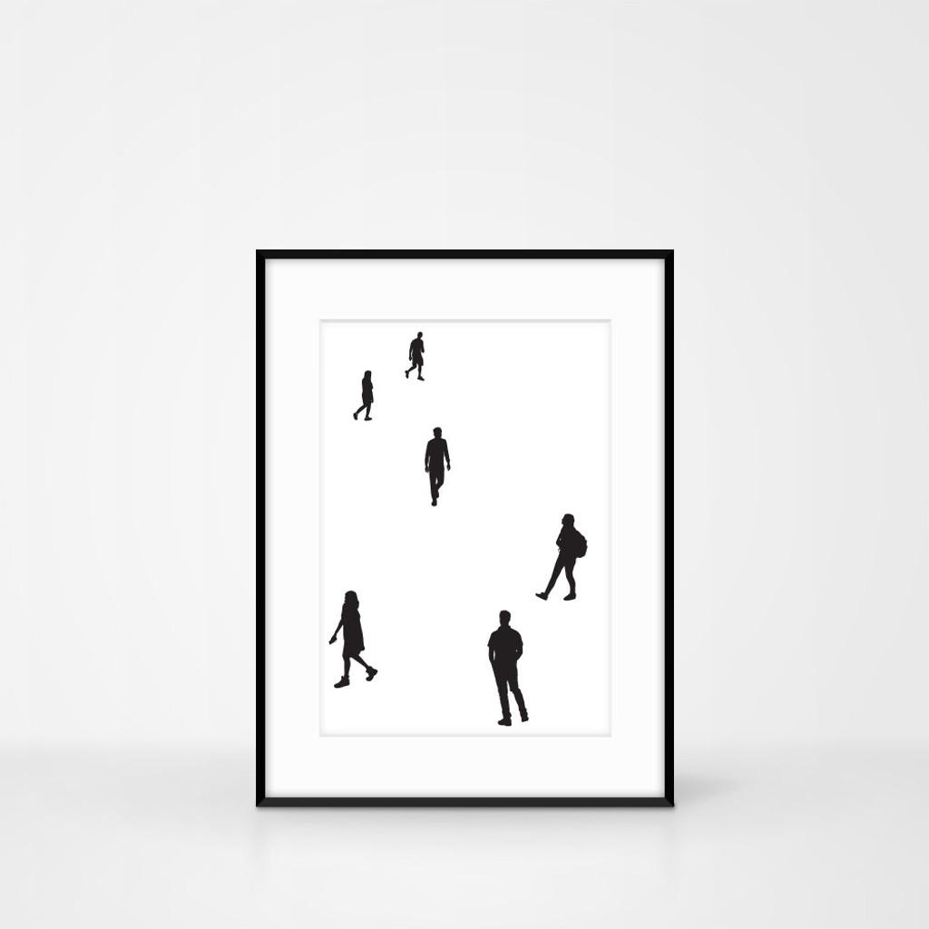 Handmade People screen print by Jacky Al-Samarraie