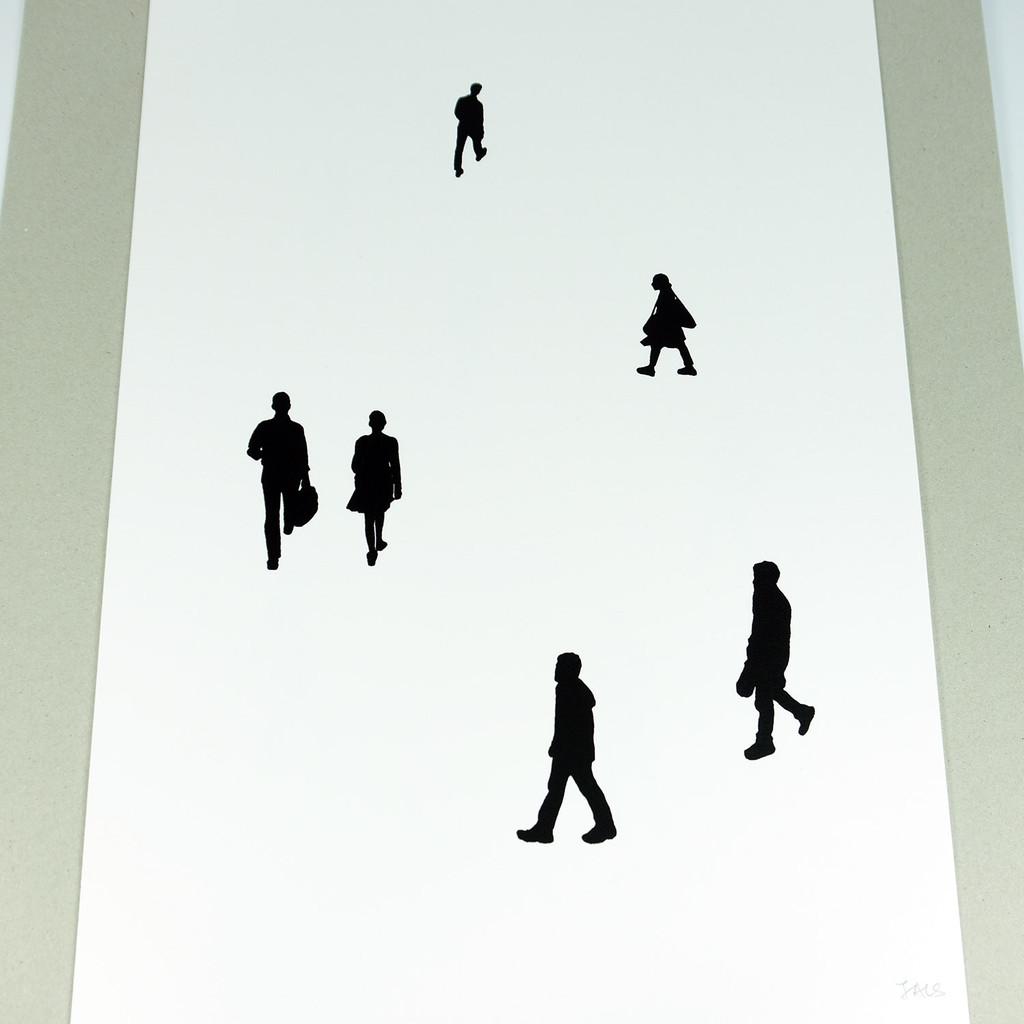 Handmade screenprint on cotton by Jacky Al-Samarraie