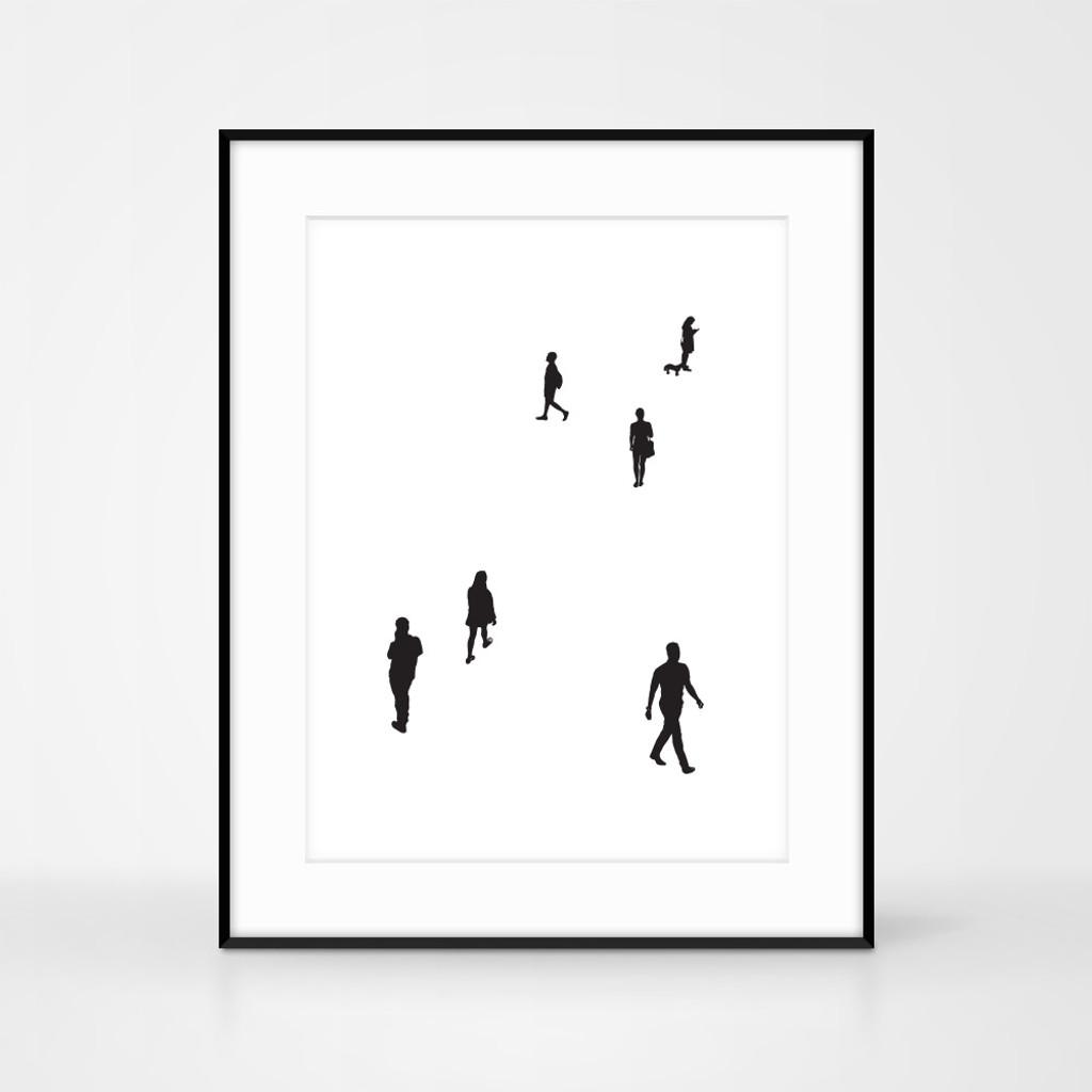 People print No.3. Handmade screen-print by Jacky Al-Samarraie