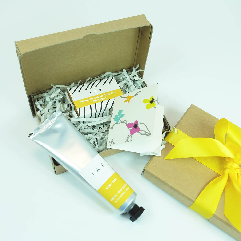 Gift Box with buttermilk soap and Shea butter by Jacky Al-Samarraie