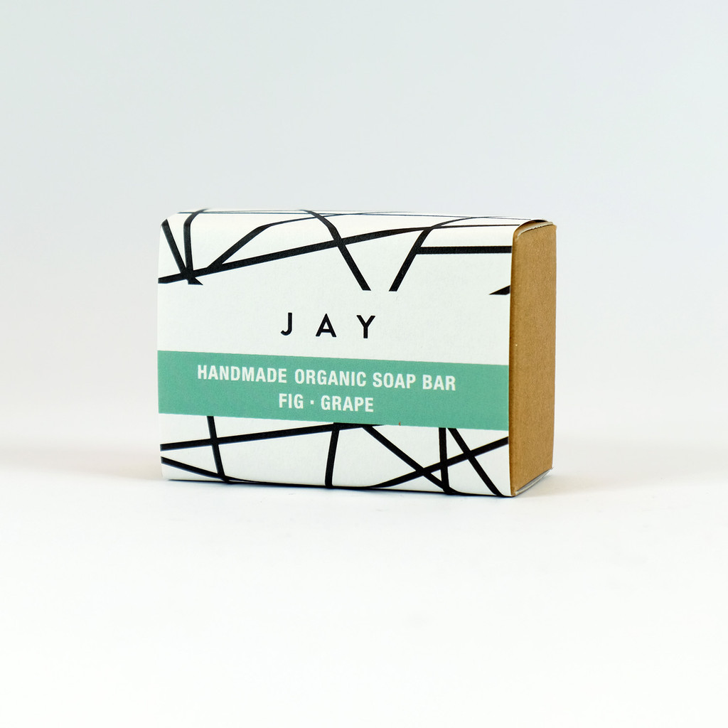 Fig & grape organic soap bar by Jacky Al-Samarraie