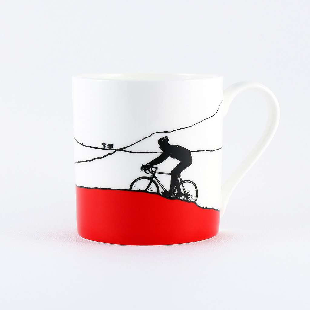 Jacky Al-Samarraie Red Jersey Cycling Mug