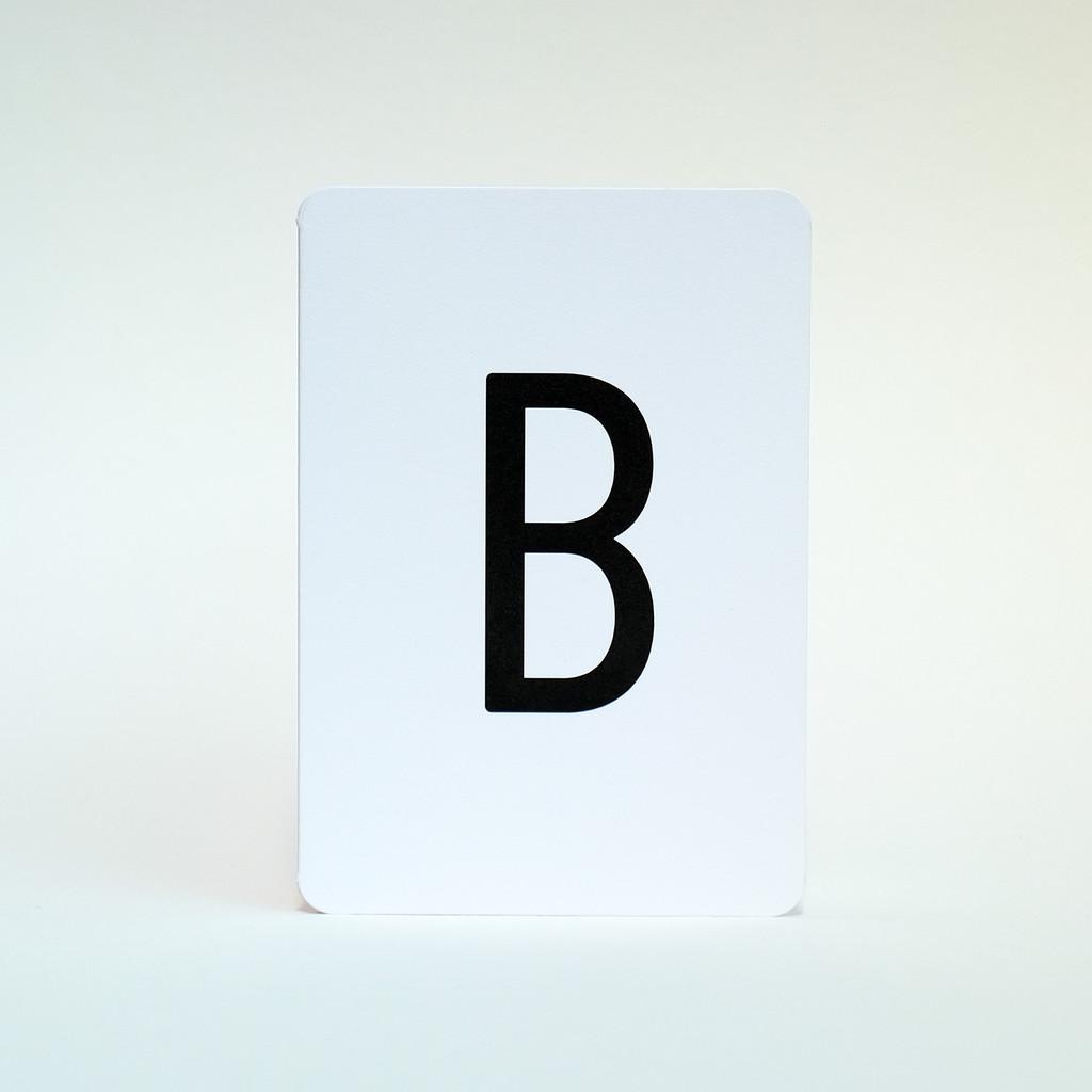Letter B greeting card by Jacky Al-Samarraie
