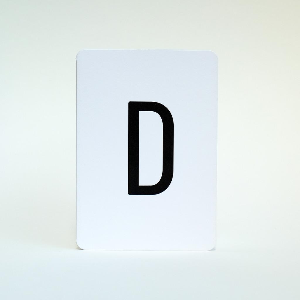 Alphabet Letter D greeting card by Jacky Al-Samarraie