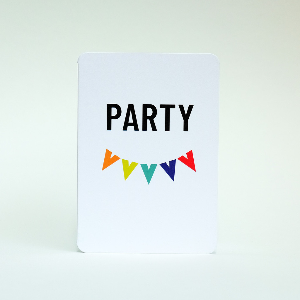 Party greeting card by Jacky Al-Samarraie