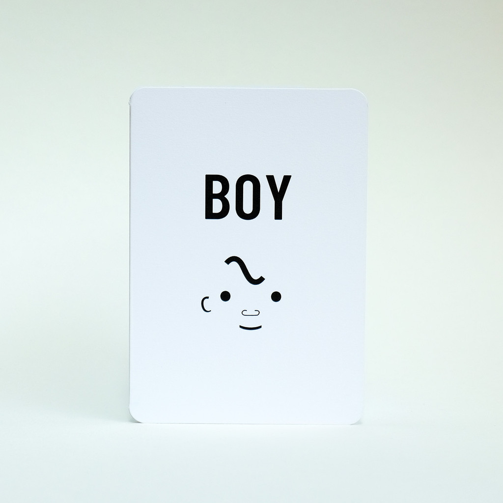 Baby Boy greeting card by Jacky Al-Samarraie