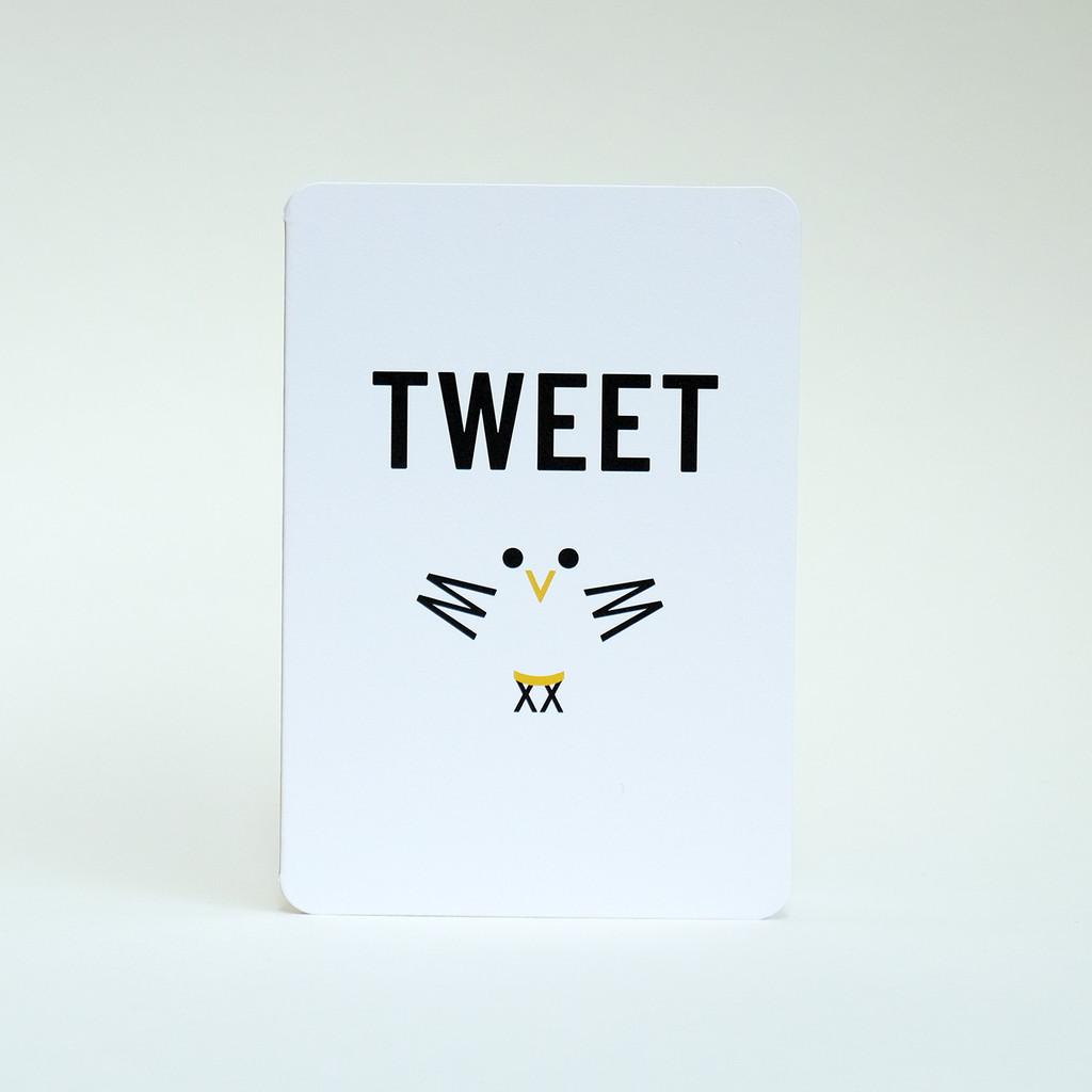 Tweet bird card design by Jacky Al-Samarraie