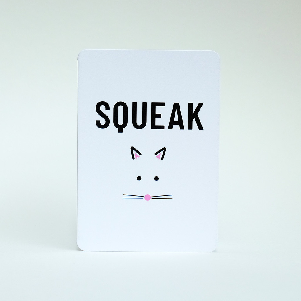 Squeak mouse card design by Jacky Al-Samarraie