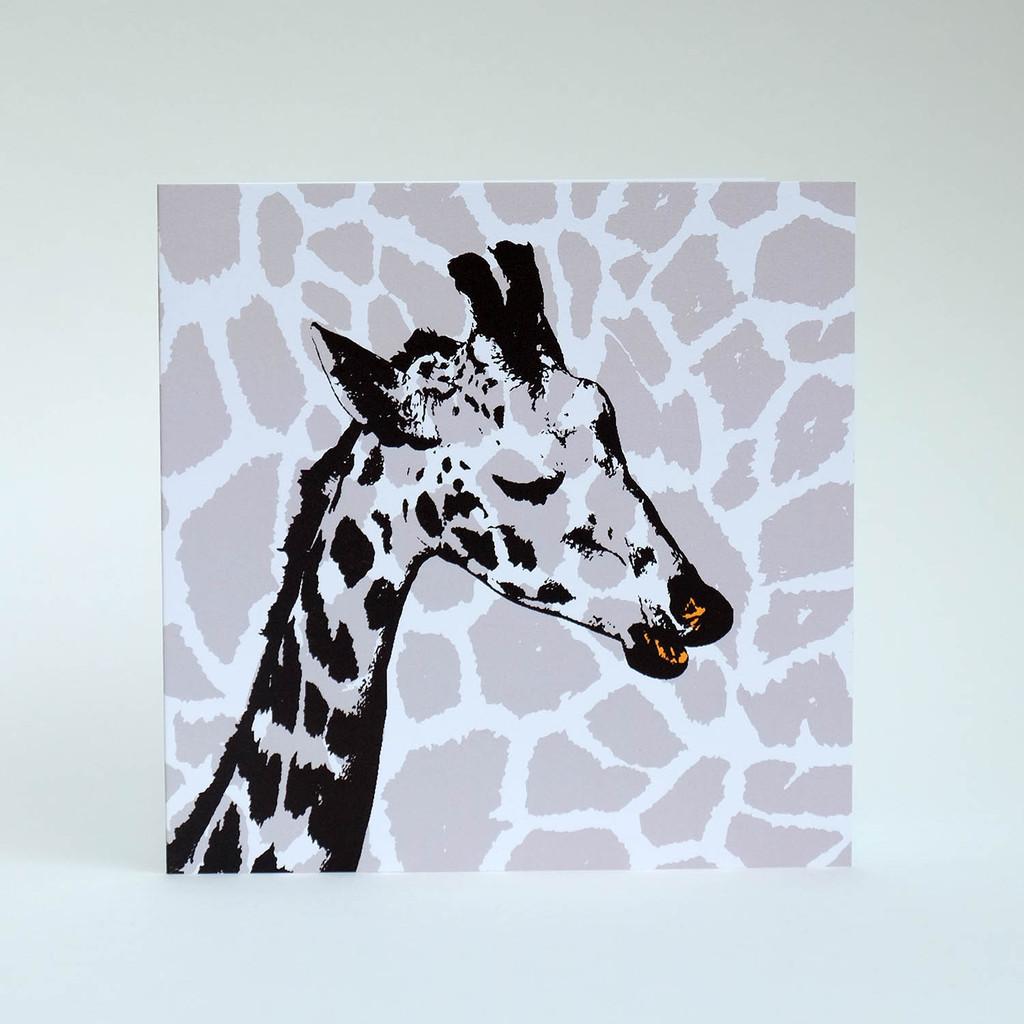 Giraffe greeting card by Jacky Al-Samarraie
