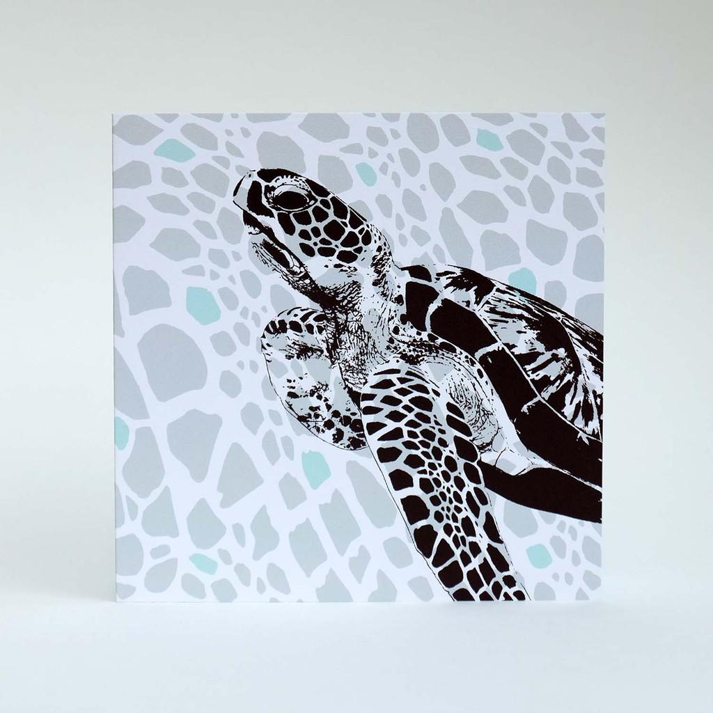 Turtle greeting card by Jacky Al-Samarraie