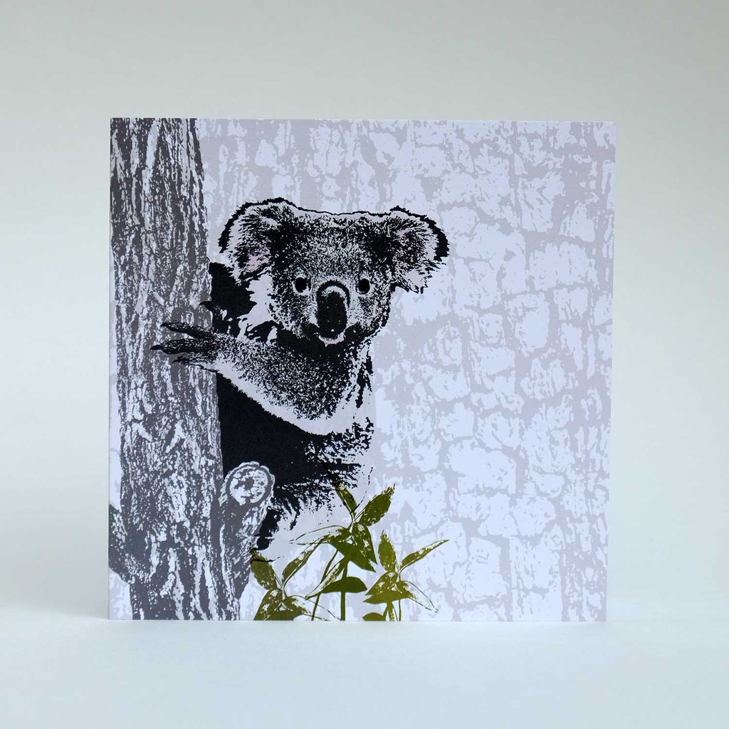 Koala greeting card by Jacky Al-Samarraie