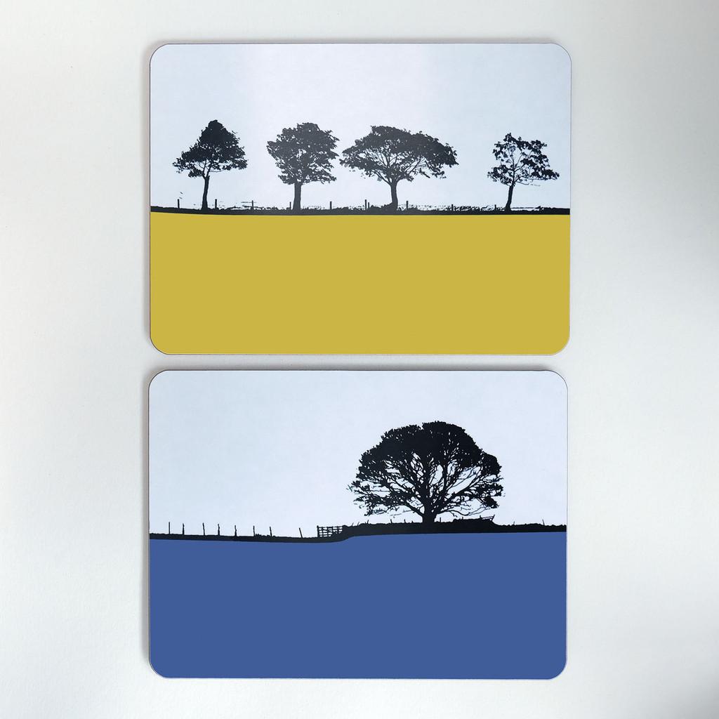 Landscape tablemats by Jacky Al-Samarraie