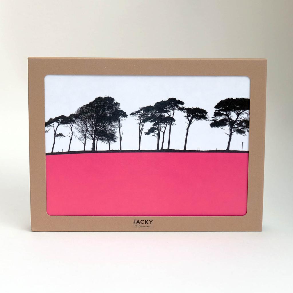 Box set of rural landscape placemats by Jacky Al-Samarraie