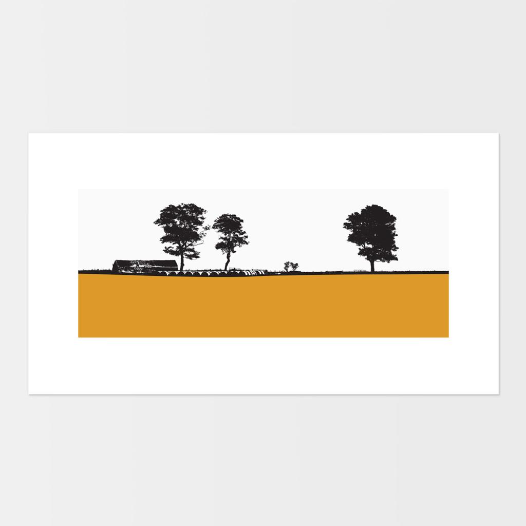 Landscape print of Elie in Fife, Scotland by designer Jacky Al-Samarraie.