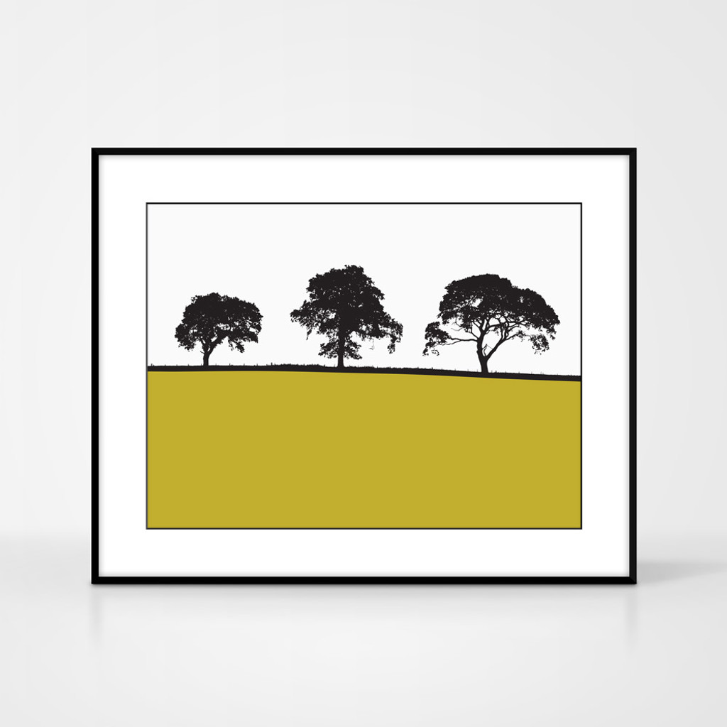 Landscape print of Carlisle by designer Jacky Al-Samarraie. Shown in frame for reference.