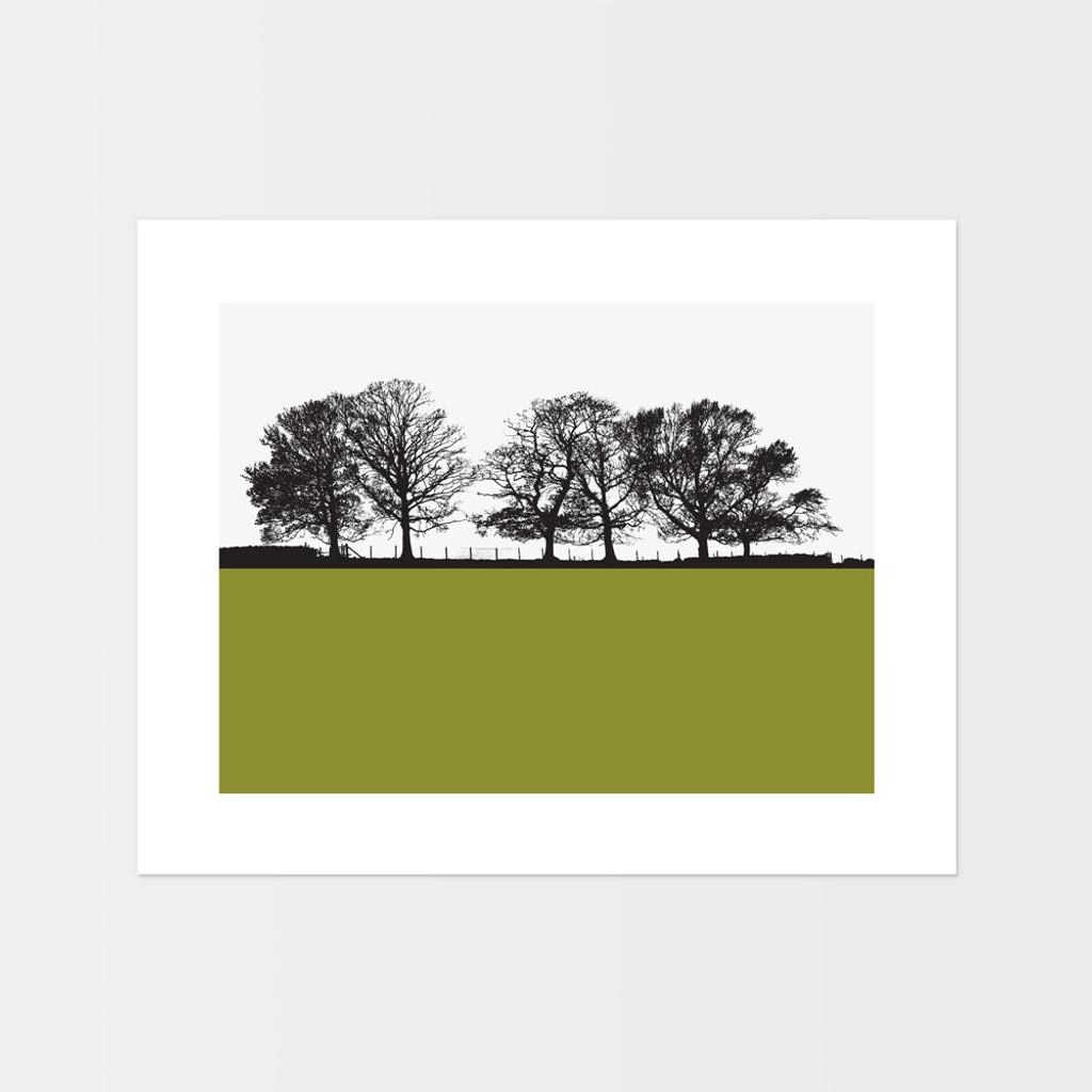 Landscape print of Keswick in the Lake District by designer Jacky Al-Samarraie.