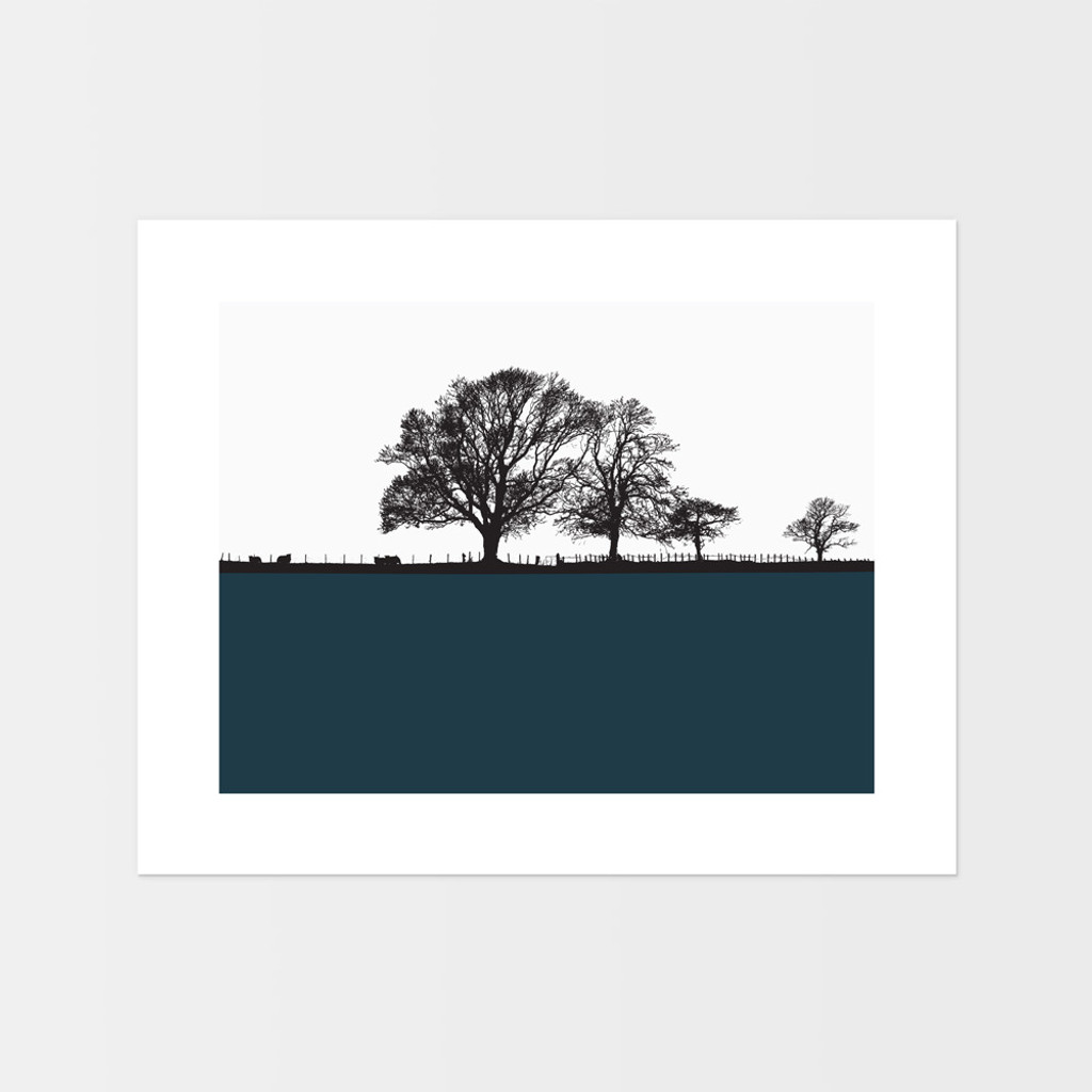Landscape print of Cockermouth in the Lake District by designer Jacky Al-Samarraie.