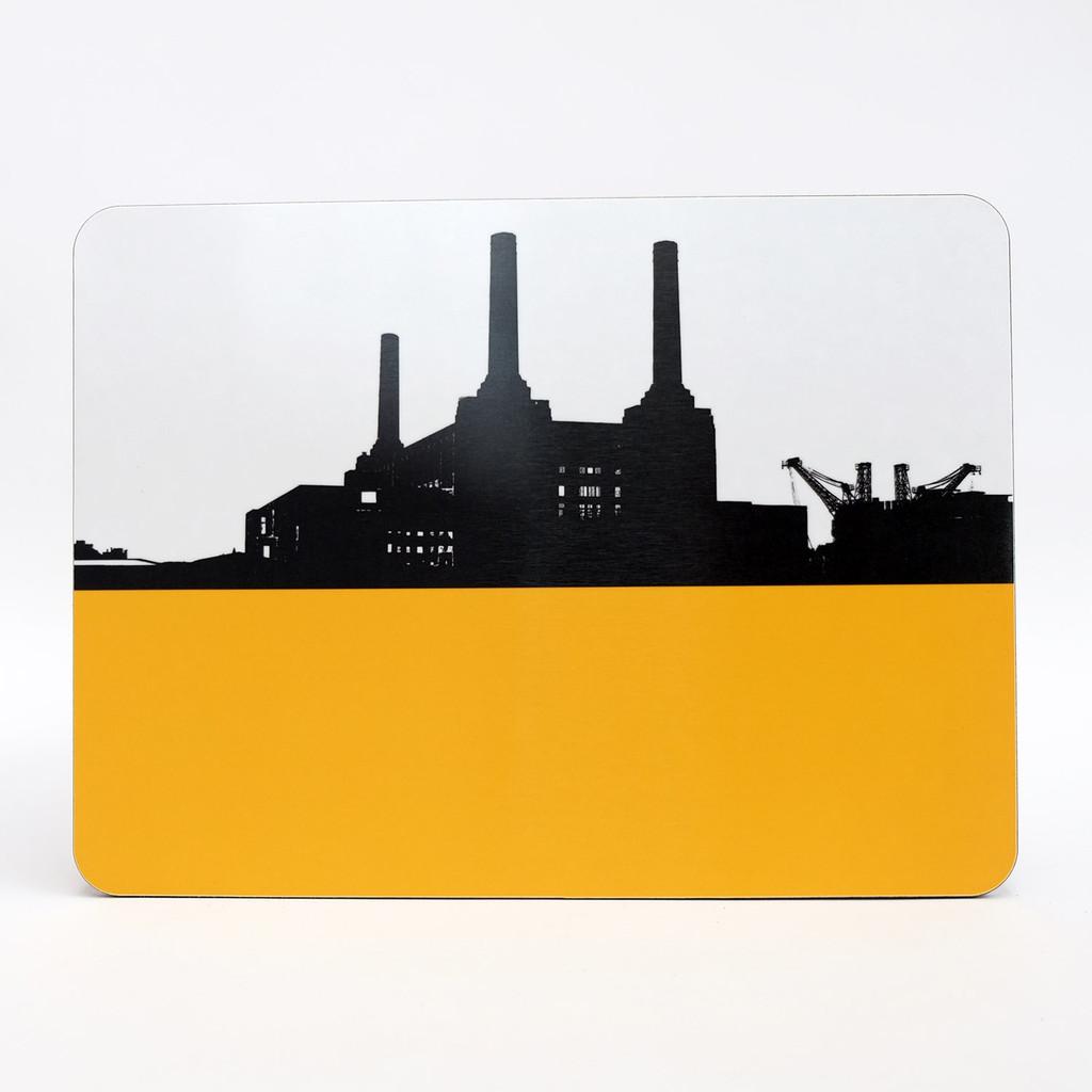 Battersea Power Station London melamine table mat by Jacky Al-Samarraie