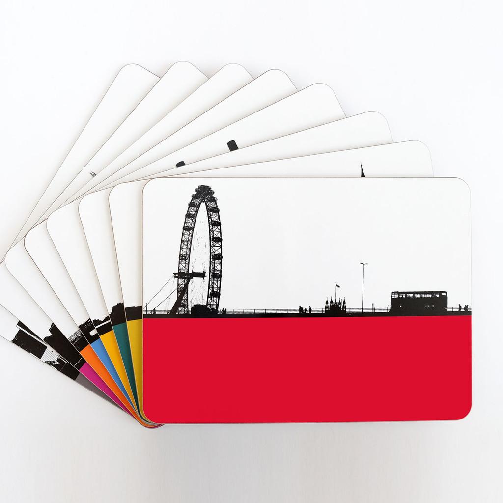 Jacky Al-Samarraie Set of eight London table mats