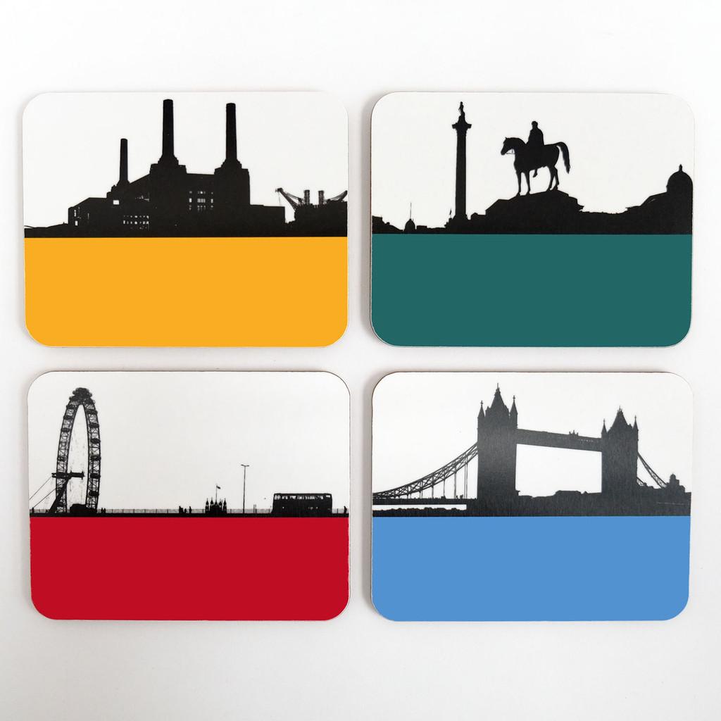 London Melamine coaster set of 8 by Jacky Al-Samarraie