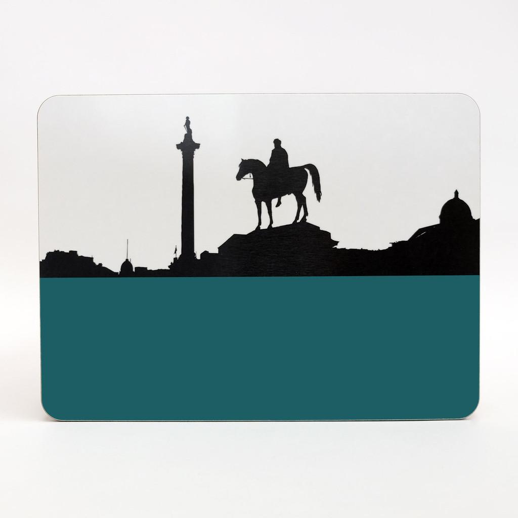 Trafalgar Square London melamine coaster by Jacky Al-Samarraie