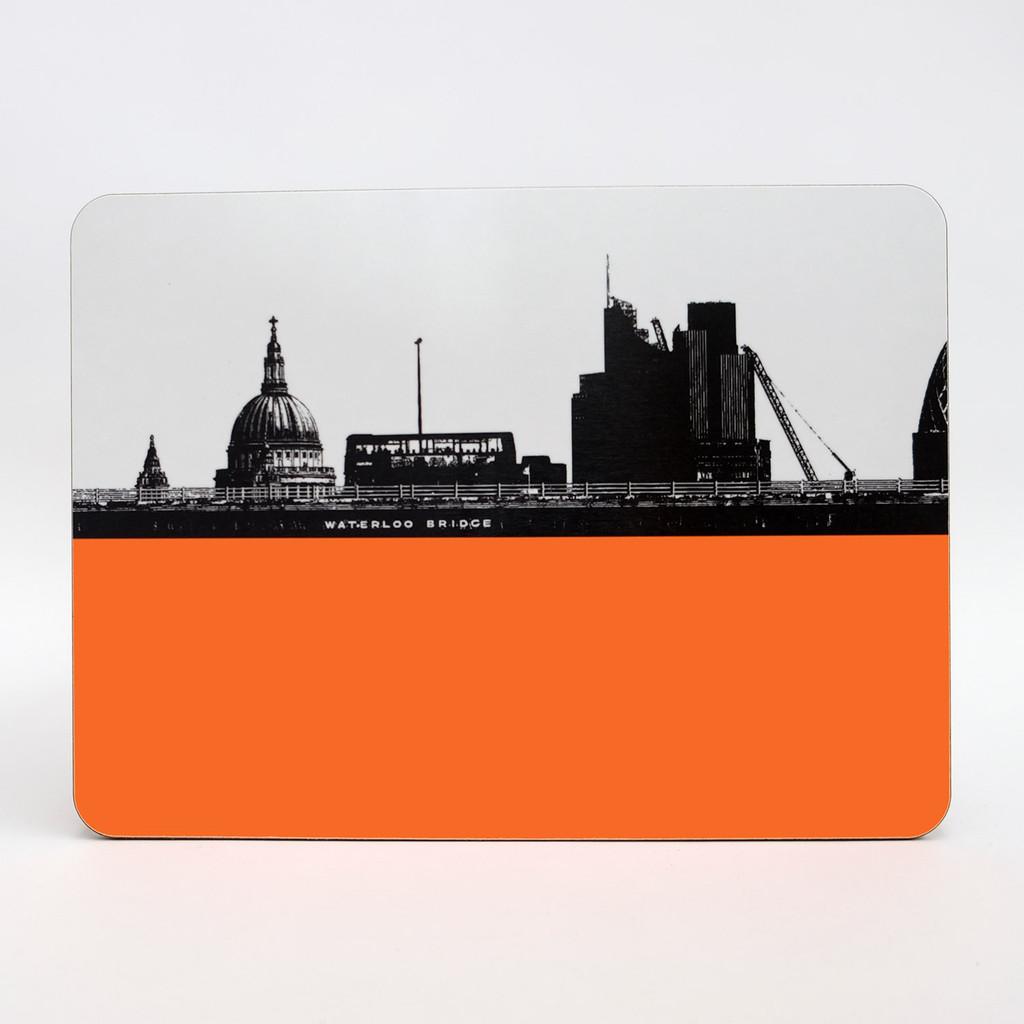Waterloo Bridge London melamine coaster by Jacky Al-Samarraie