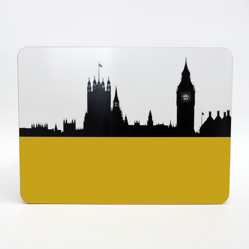 Houses of Parliament London melamine coaster by Jacky Al-Samarraie