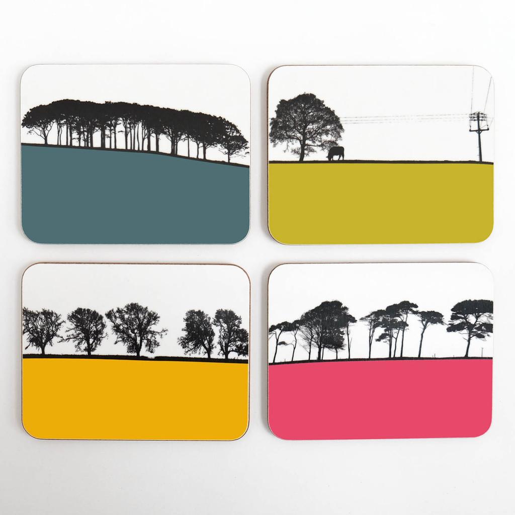 Jacky Al-Samarraie Melamine Landscape Coaster Set of 8