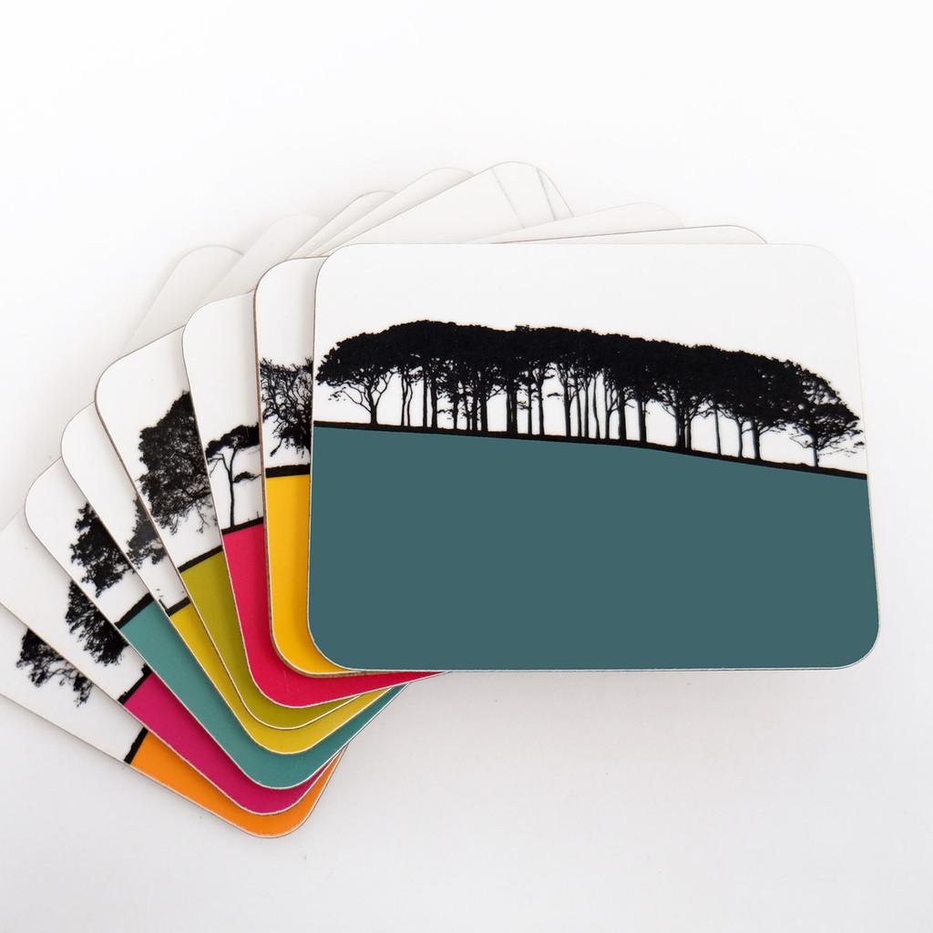 Jacky Al-Samarraie Melamine Coaster Set of British Landscapes