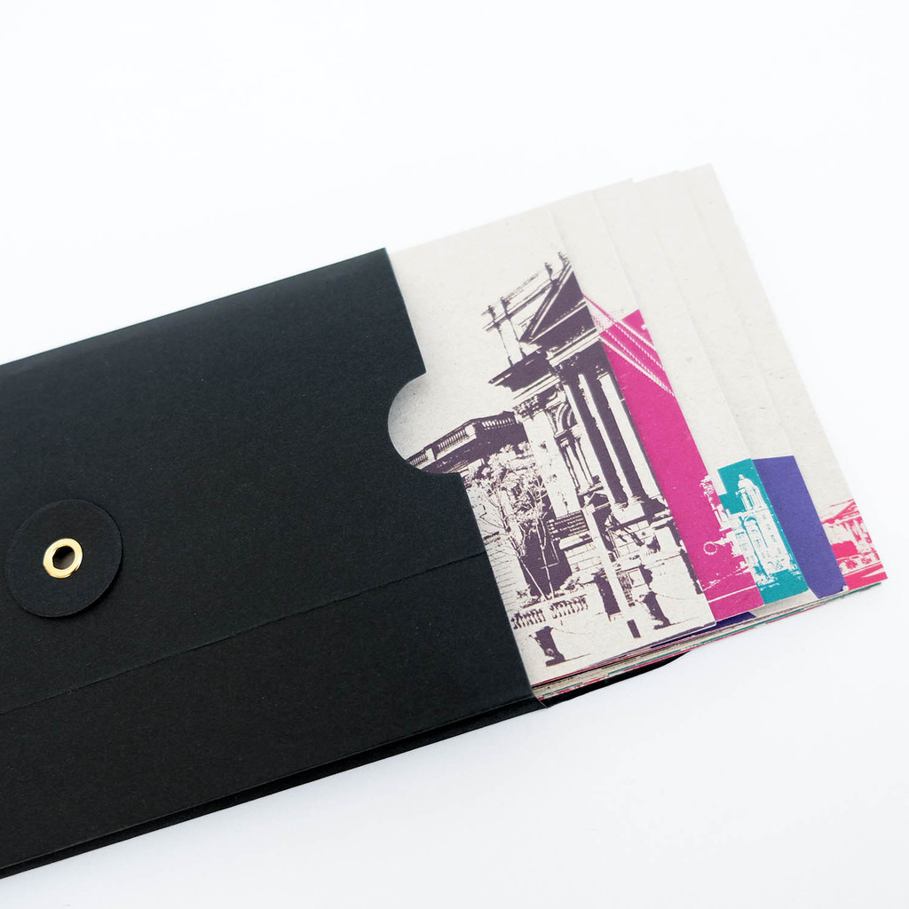 Jacky Al-Samarraie Black Wallet of 12 iconic Liverpool Postcards