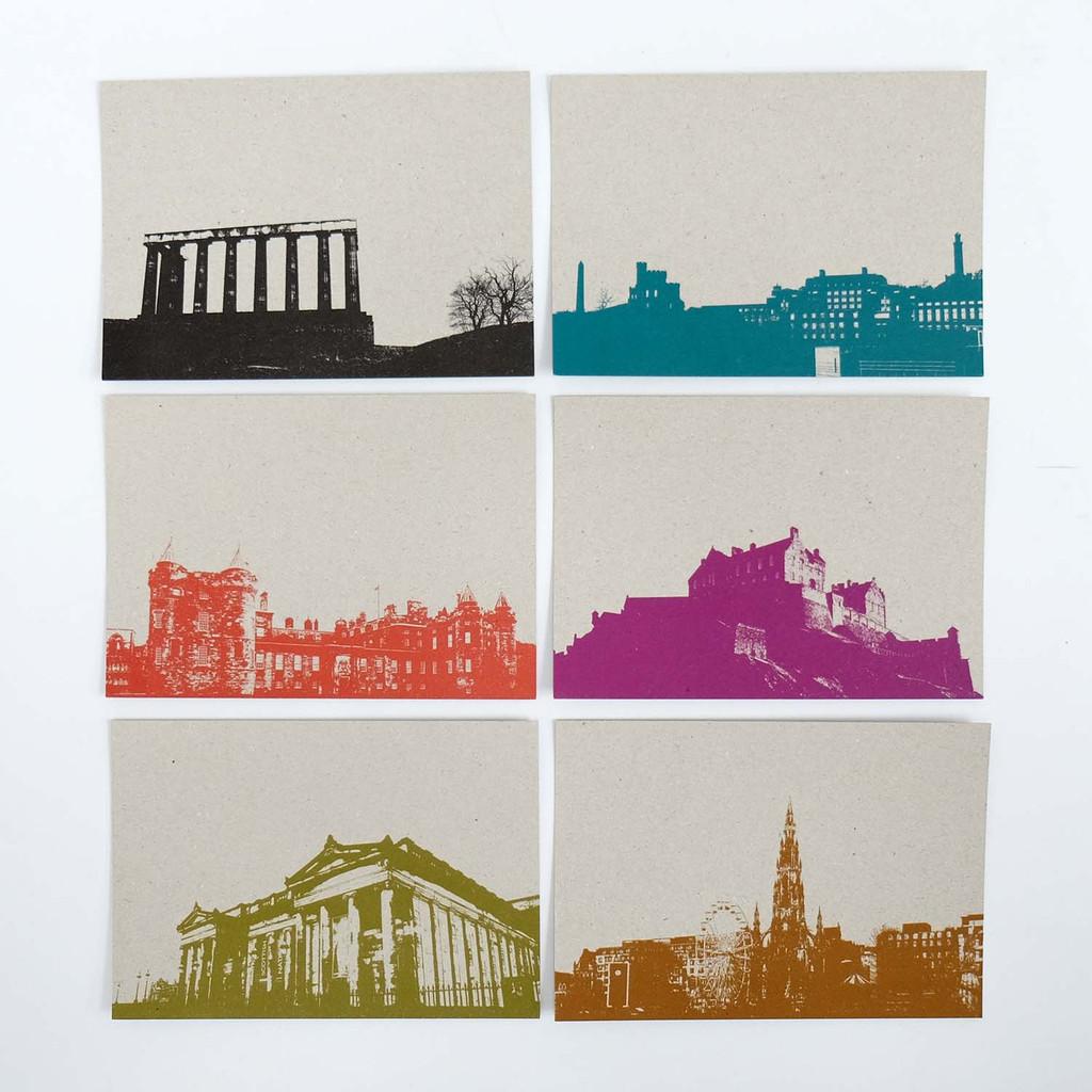 Jacky Al-Samarraie Set of 12 Edinburgh Postcards