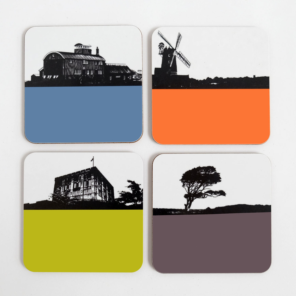 Jacky Al-Samarraie Norfolk Landscape Drinks Coaster Set