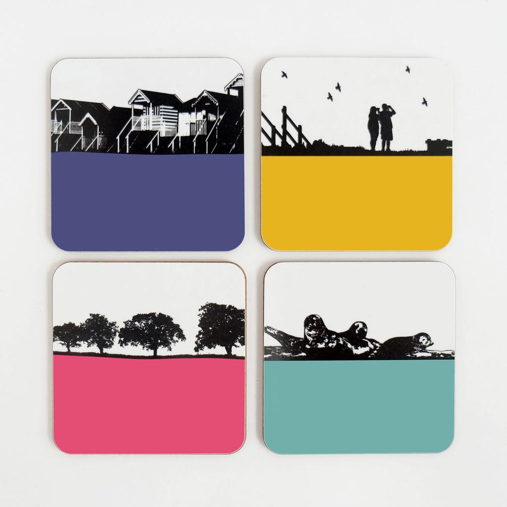 Jacky Al-Samarraie Norfolk Landscape Coaster Set