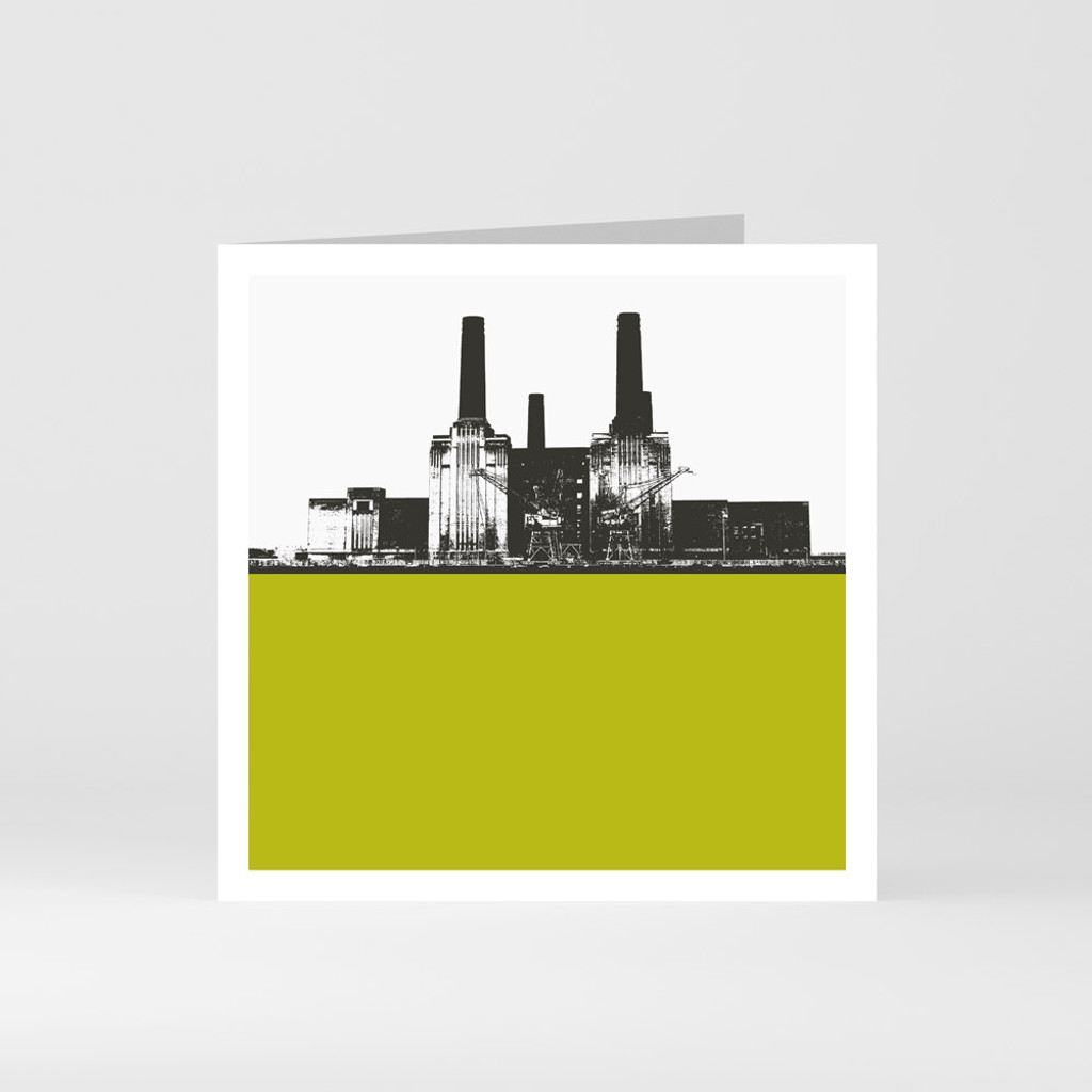 Jacky Al-Samarraie London Greeting Card of Battersea Power Station