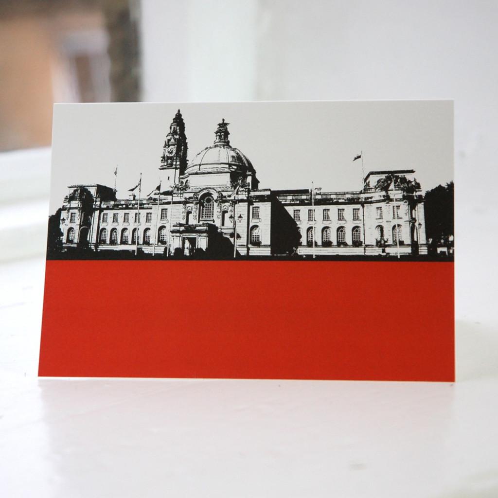 Jacky Al-Samarraie Cardiff City Hall Greeting Card