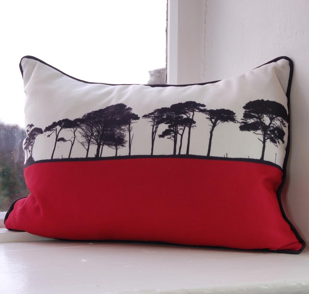 Jacky Al-Samarraie County Cork Landscape Cushion - Pink