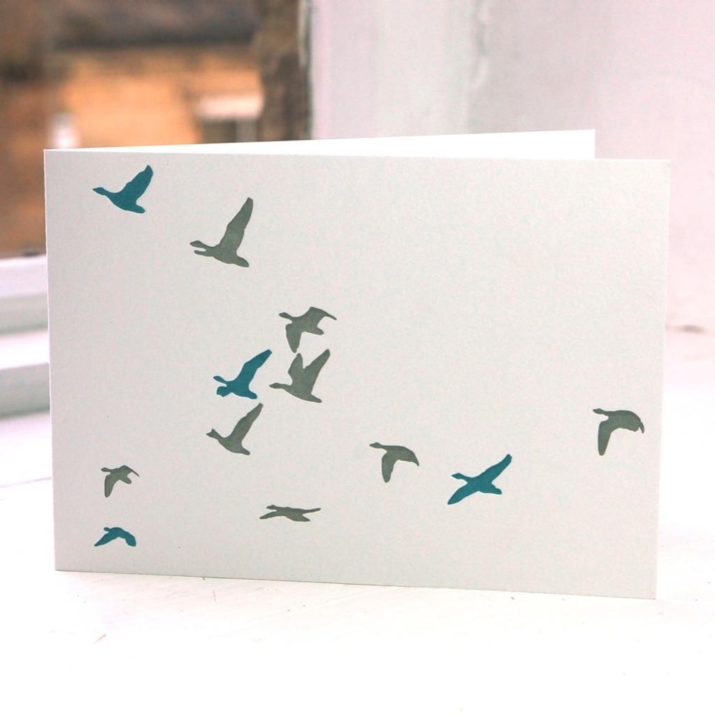 Jacky Al-Samarraie Flying Ducks Greeting Card