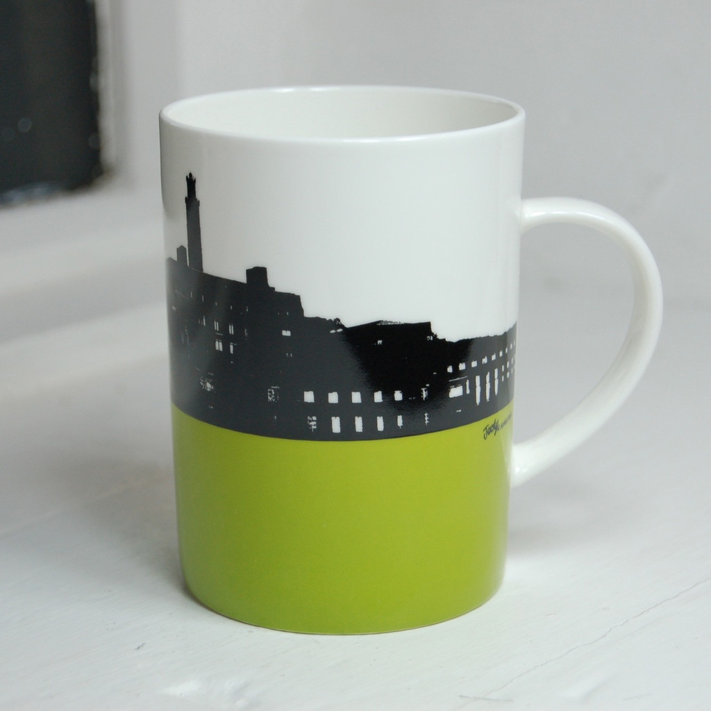 Jacky Al-Samarraie Calton Hill & St. Andrews House Bone China Mug