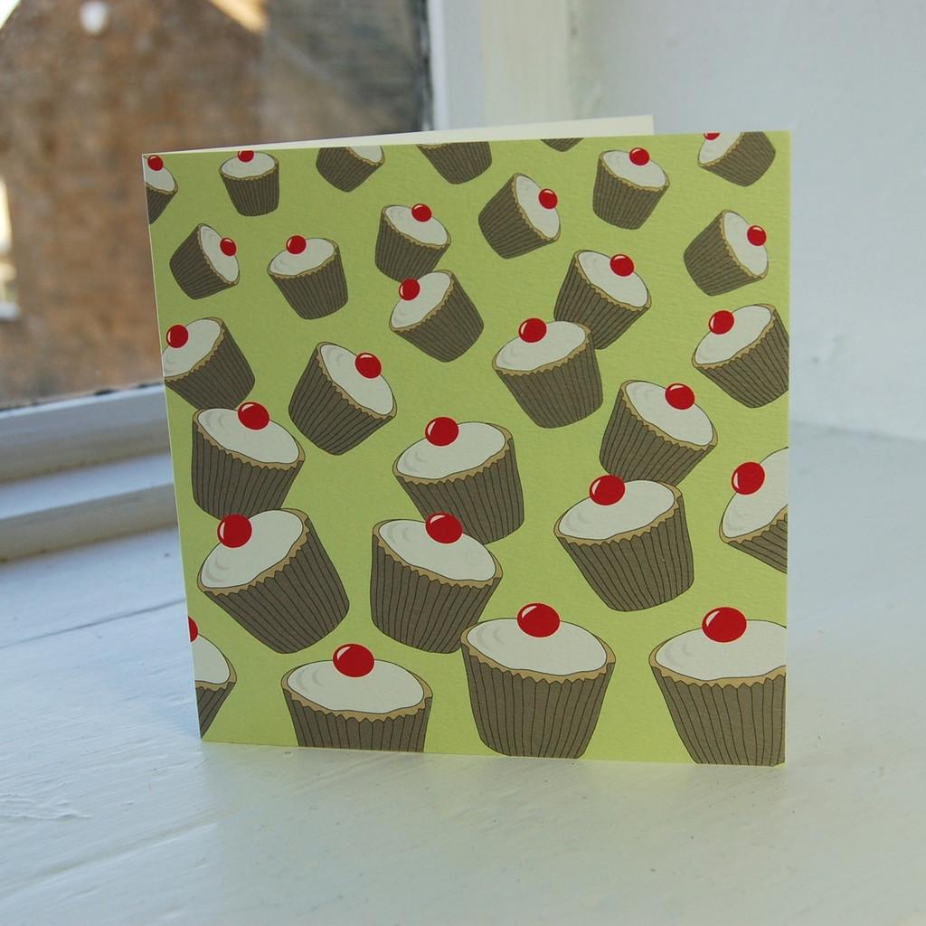 Jacky Al-Samarraie Peppermint Cupcakes Greeting Card