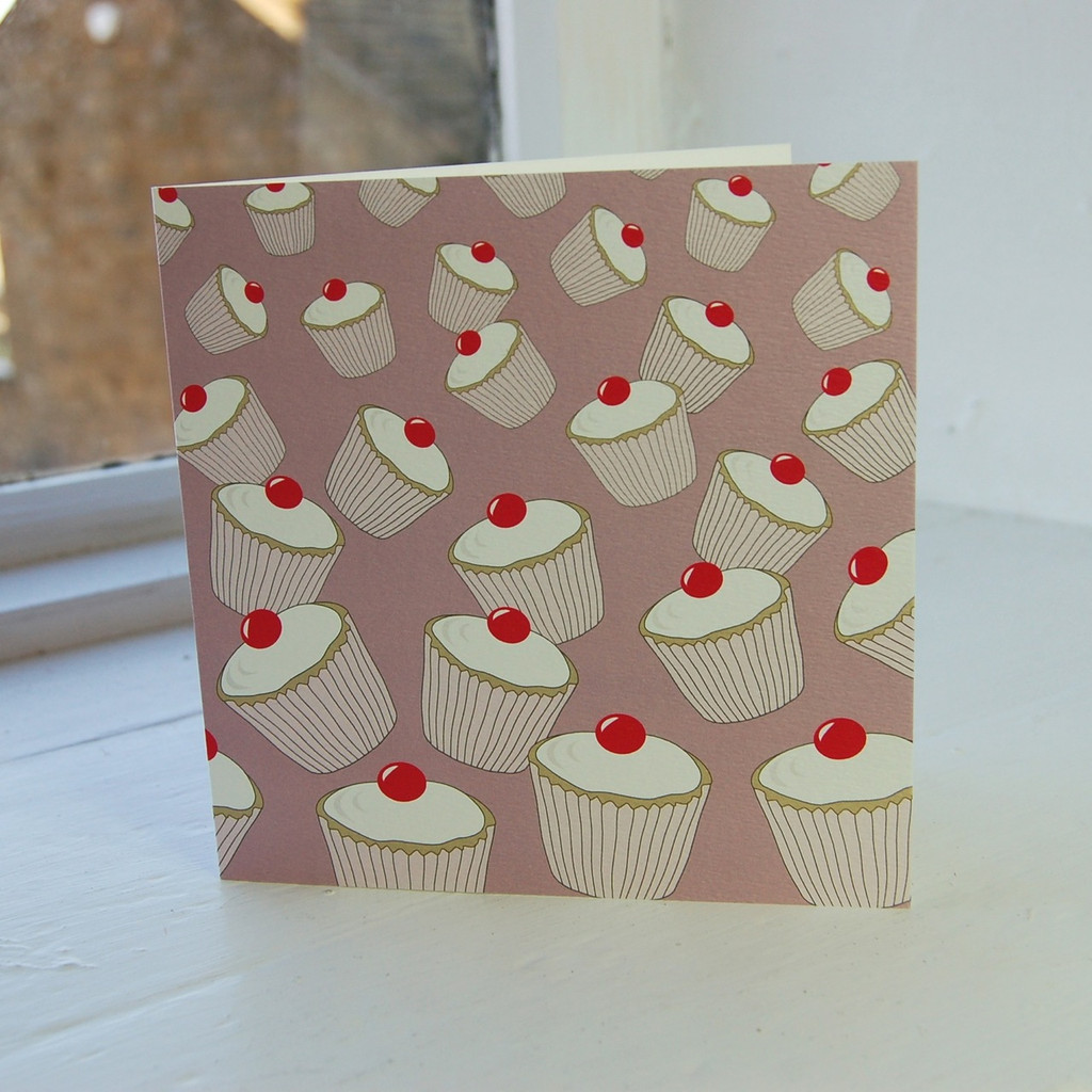 Jacky Al-Samarraie Rose Cupcakes Greeting Card