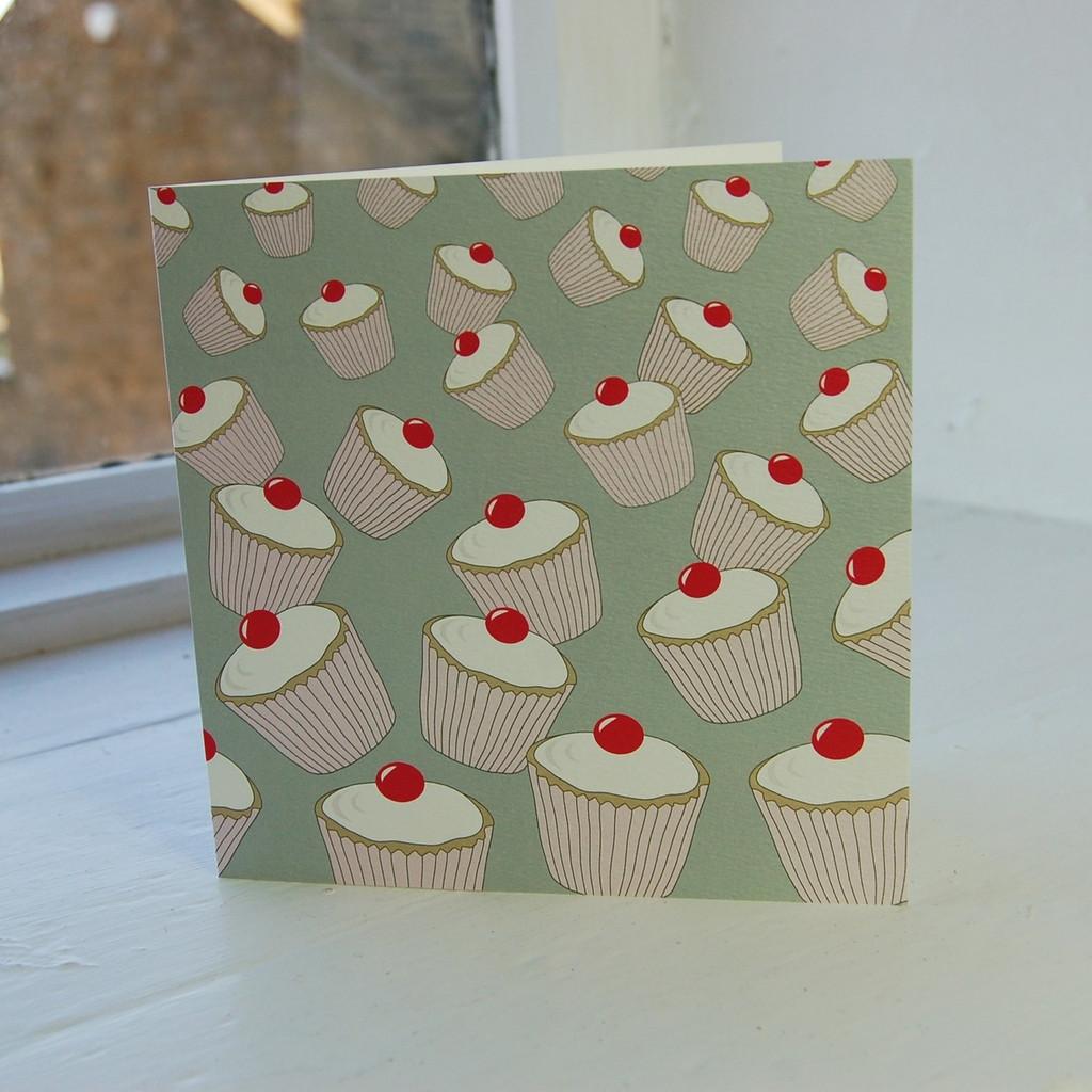 Jacky Al-Samarraie Sage Cupcakes Greeting Card