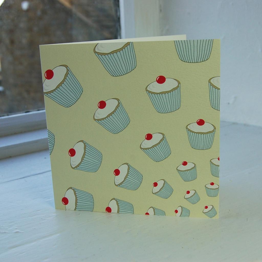 Jacky Al-Samarraie Lemon Cupcakes Greeting Card