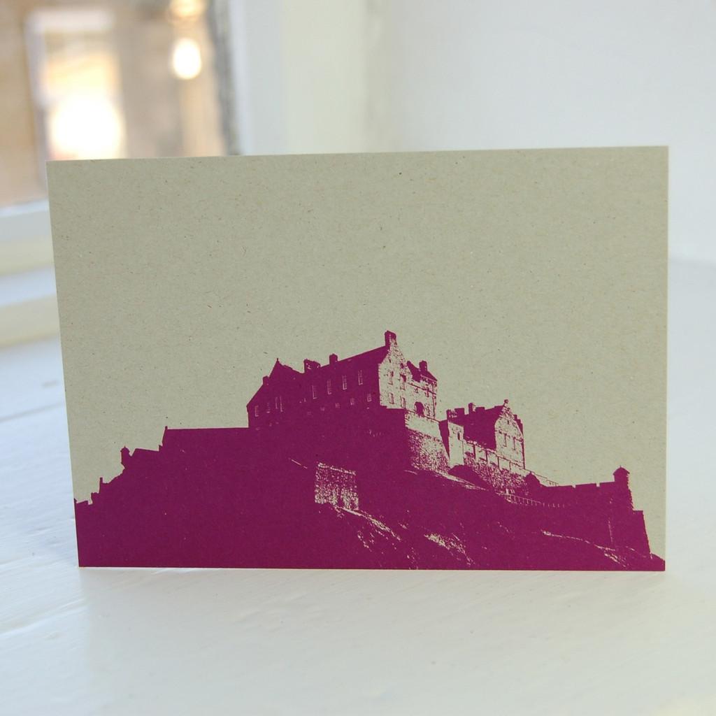 Jacky Al-Samarraie Edinburgh Castle Postcard