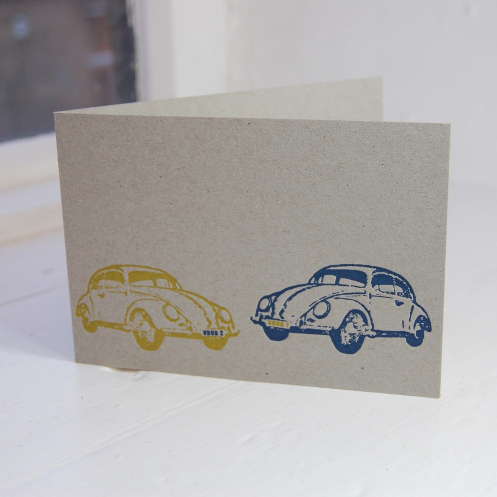Jacky Al-Samarraie Beetle Letterpress Greeting Card