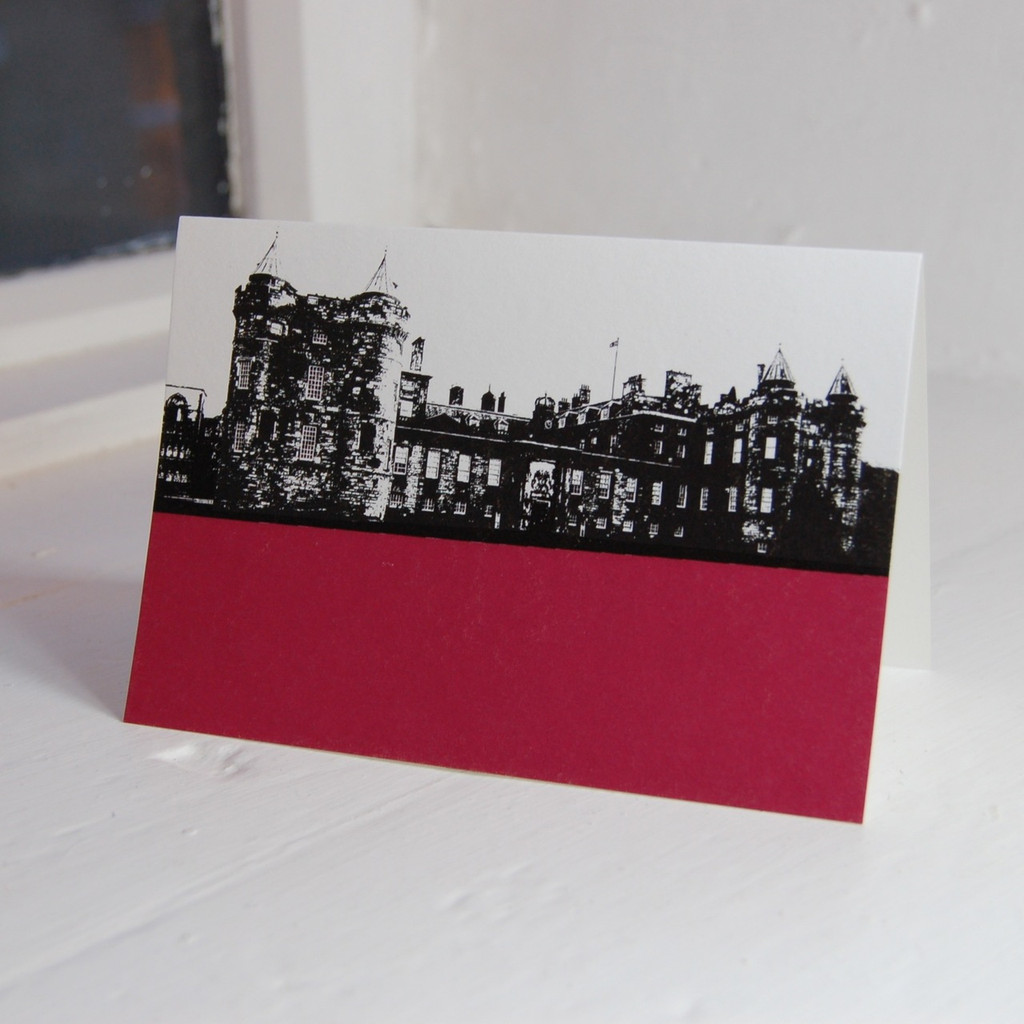 Jacky Al-Samarraie Palace of Holyroodhouse Greeting Card