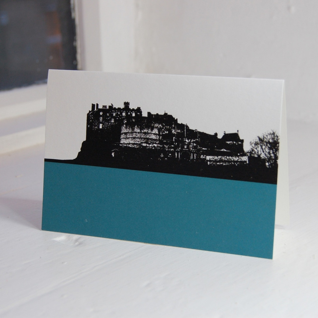 Jacky Al-Samarraie Edinburgh Castle Teal Greeting Card