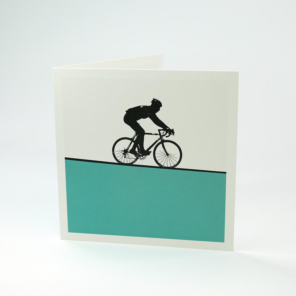 Cycling greeting card by Jacky Al-Samarraie